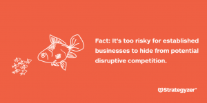 Fact: It's too risky for established businesses to hide from potential disruptive competition.