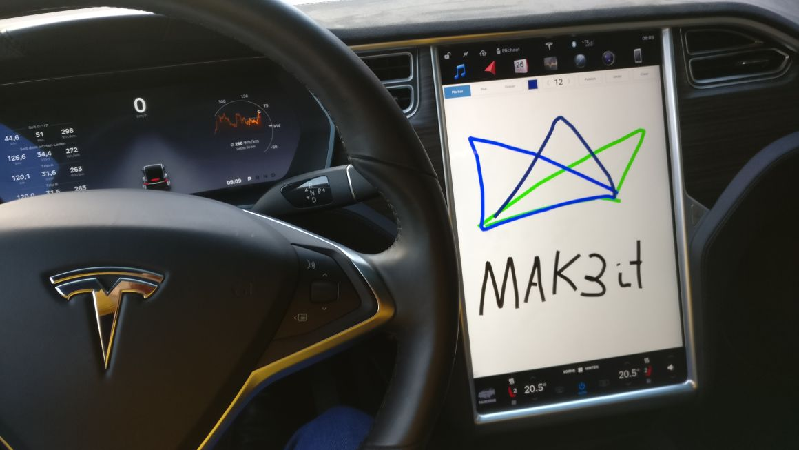 Zum Off-Site mit einem Tesla Model X 90D